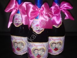 Этикетка на Свадебное Шампанское с Вашим фото 350 руб.