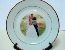 Тарелка с логотипом или фото 350 руб.